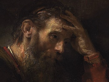 Rembrandt+ +The+Apostle+Paul+ +Detail+face The Apostle Pauls Two Part Answer to Tolstoy