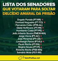 lista de senadores traidores da população brasileira