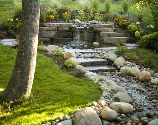 backyard build backyard river build backyard waterfall home