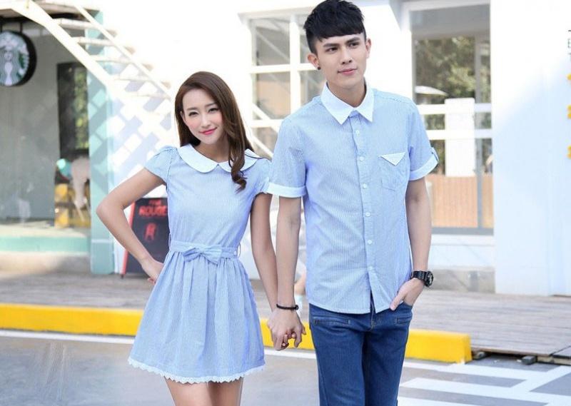 Jual Dress Online Murah Jakarta Bahan Combed Terbaru Warna Biru Keren