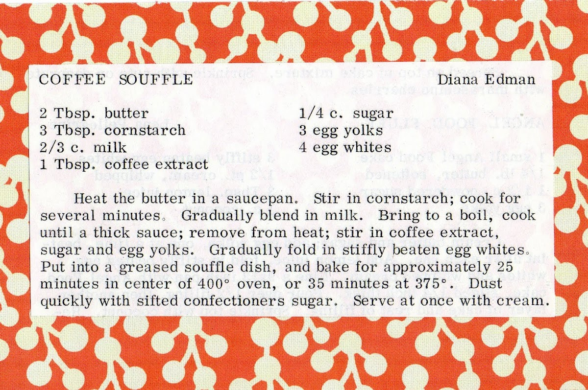 Coffee Souffle (quick recipe)