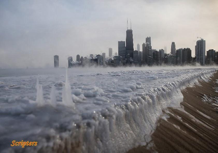 Cuaca Sejuk Melampau Bbekukan Bandar Chicago
