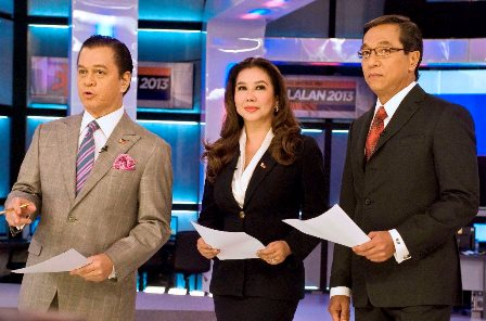 Halalan 2013 anchors Kabayan Noli De castro, Korina Sanchez and Ted Failon