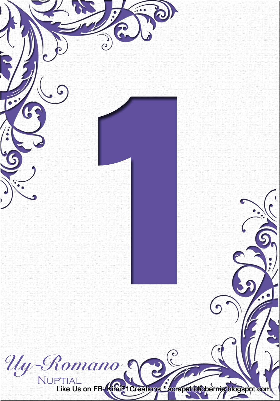 1050 x 1500 jpeg 259kB, Purple Number 8 Table number