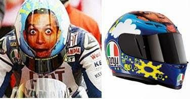 Koleksi Helm Unik Valentino Rossi Dulu Hingga Sekarang 8