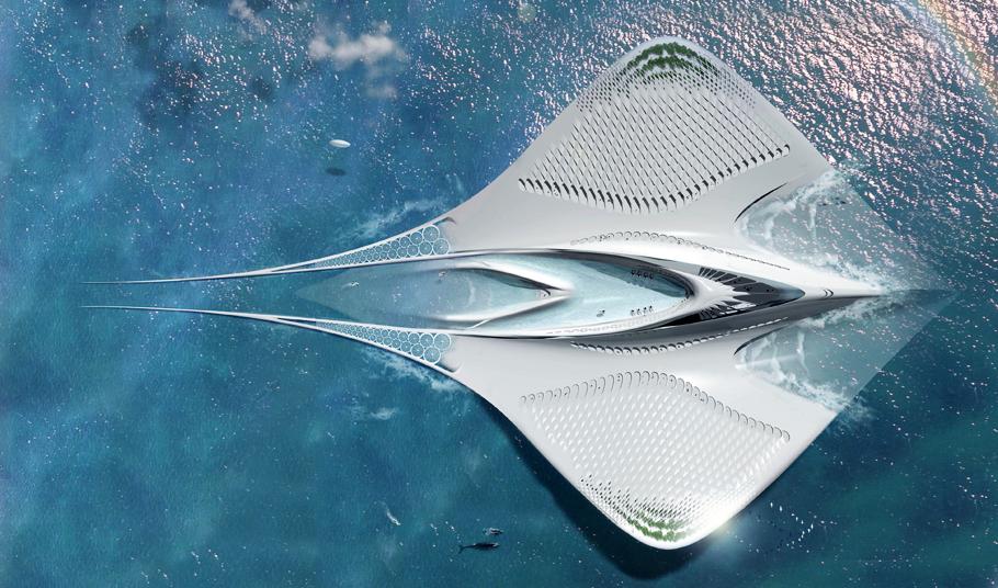 Futurix una citt scientifica galleggiante da fantascienza for Un mezzo galleggiante