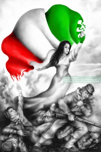 patria donna tricolore