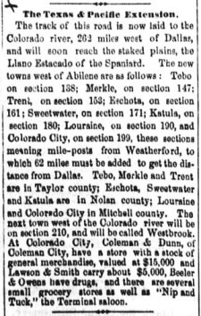 Roscoe's Earliest History in Newspaper Articles