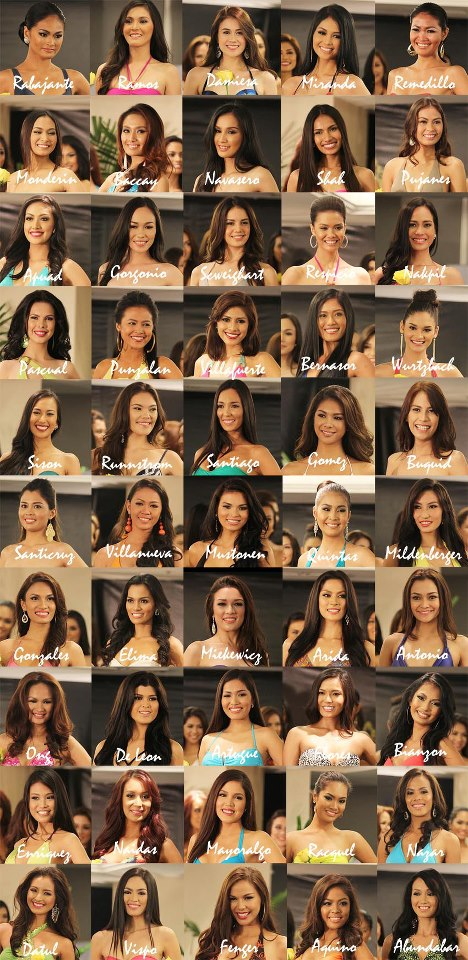 Bb Binibining Pilipinas 2013 Candidates Contestants Delegates