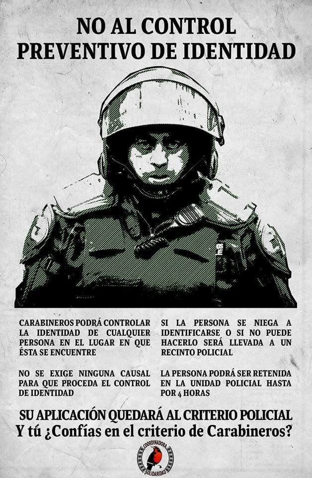 NO AL CONTROL PREVENTIVO DE IDENTIDAD