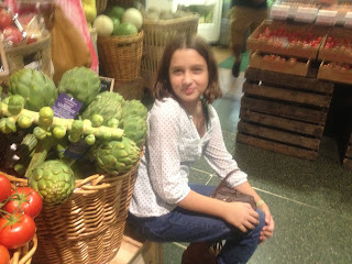 Artichokes and a girl