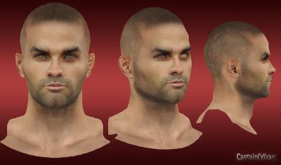 NBA 2K13 Tony Parker Cyberface Mod