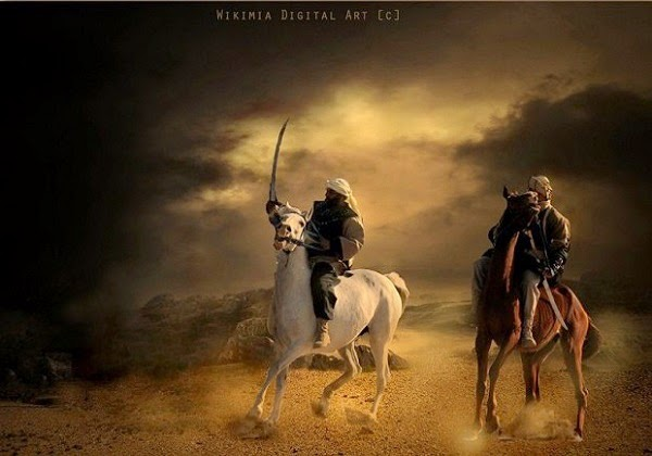 Dua Malaikat Pendamping Nabi dalam Perang Uhud dan Pakaiannya