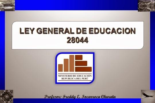 ... DE DOCENTES 2014 (CONTRATACIÓN): PPT LEY GENERAL DE EDUCACIÓN