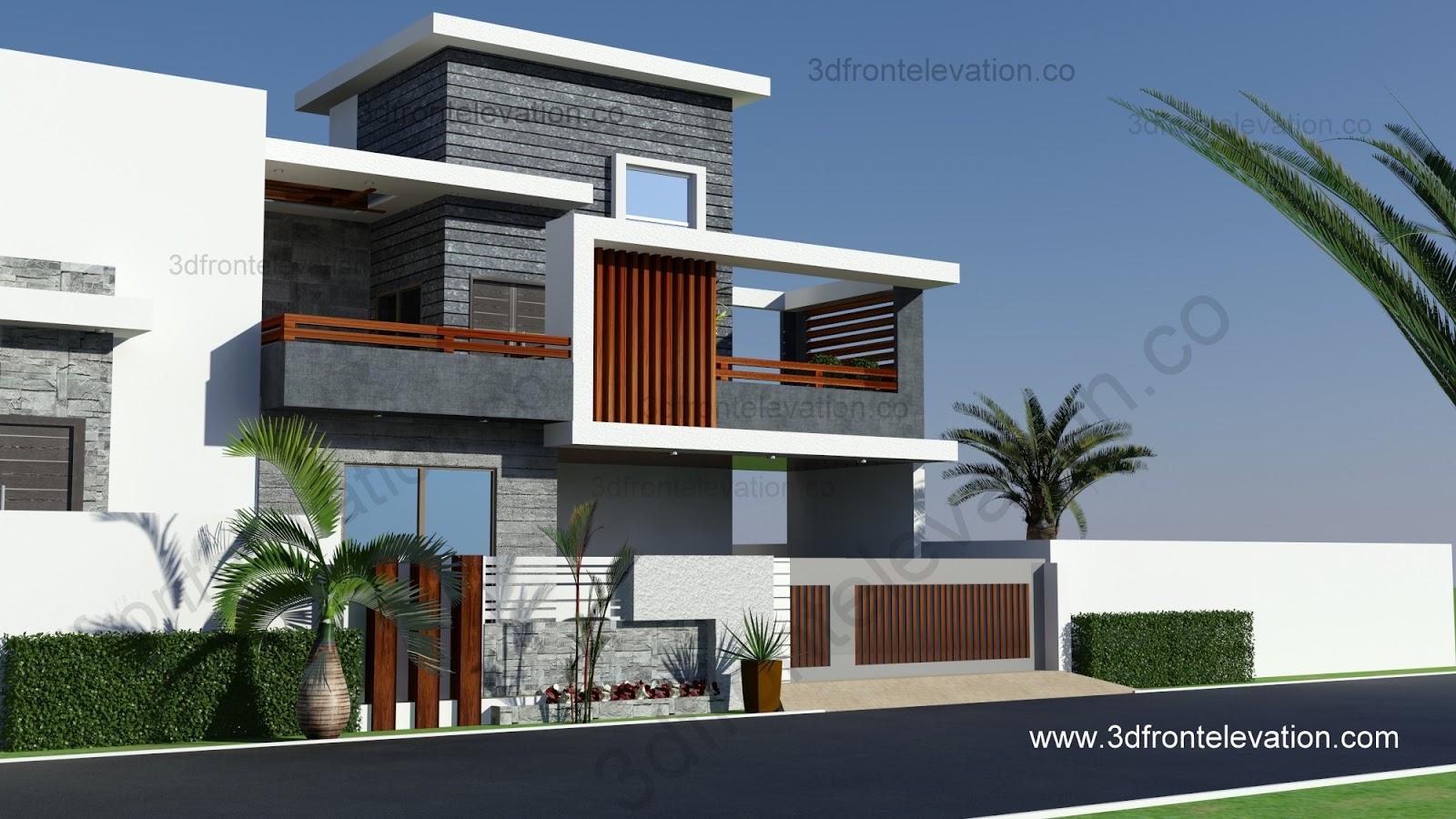 3D Front Elevationcom 10 Marla Contemporary House Design 2016