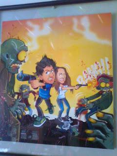 caricatura novios walking dead canam