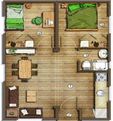 Planos casas modernas planos de casas de inter s social for Fachadas de casas modernas de interes social