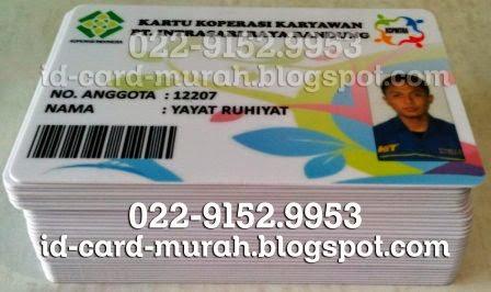 kartu member anggota koperasi barcode foto idcard murah bandung pvc