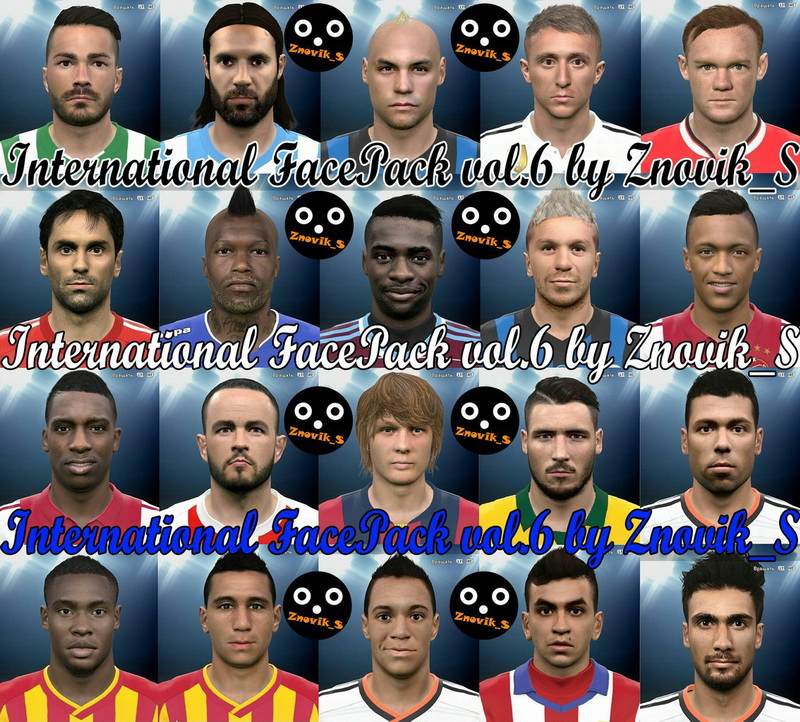 PES 2015 International FacePack vol. 6 by Znovik_S