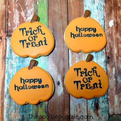 Stenciled Halloween Cookies