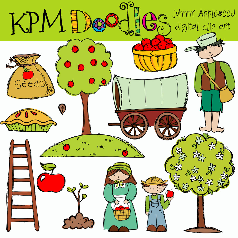 kpm doodles johnny appleseed johnny appleseed clip art black and white johnny appleseed clip art images