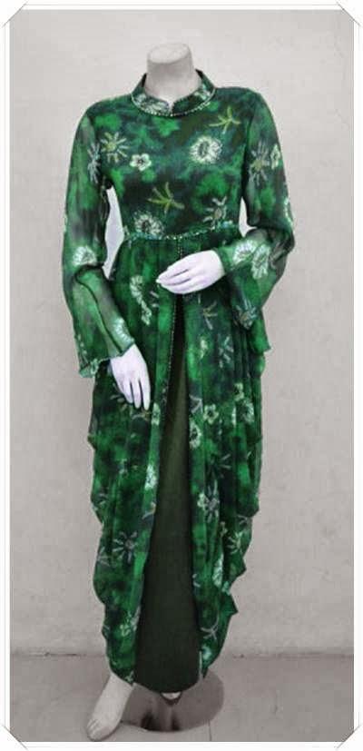 Update model baju gamis batik modern terbaru Model baju gamis batik variasi