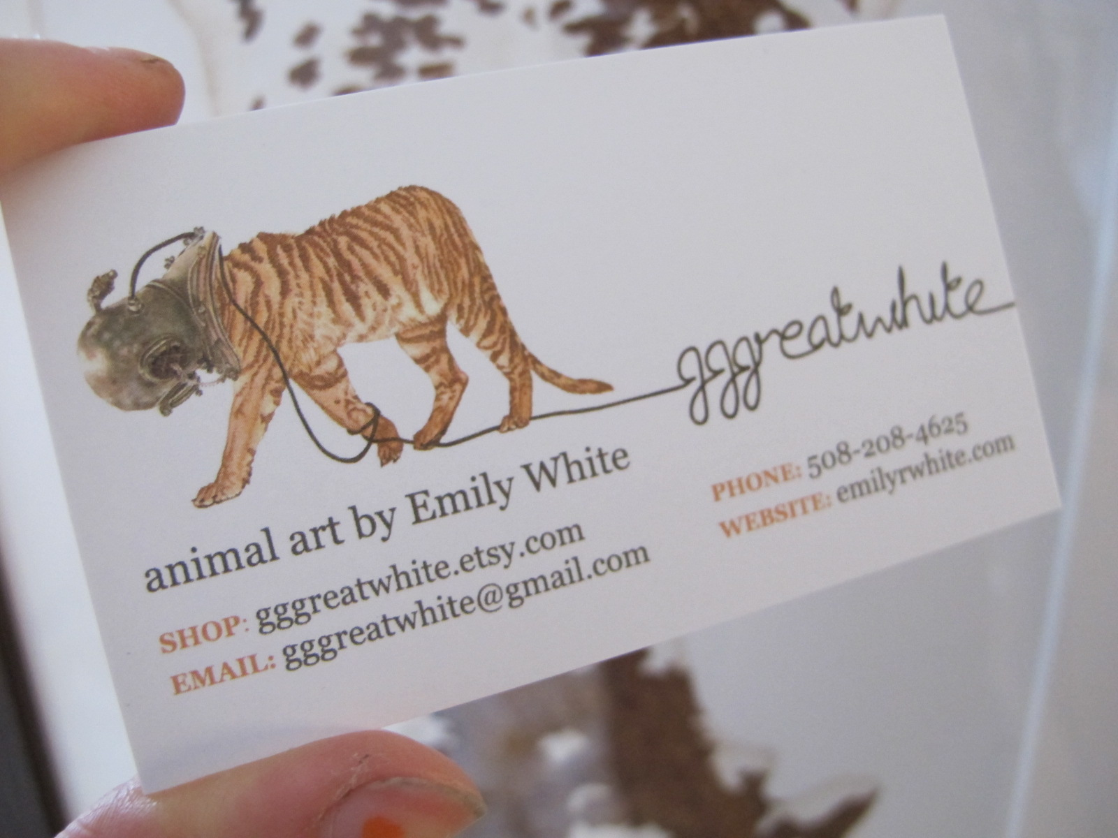 ew! art: New etsy business cards and dirty fingernails