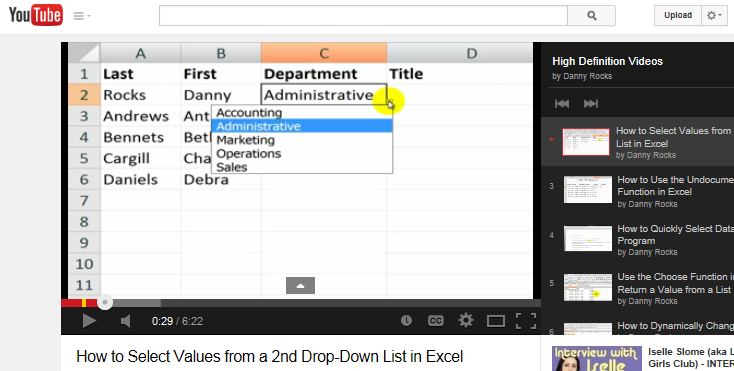 11 videos tutorials to learn excel
