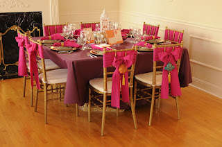pink and purple wedding