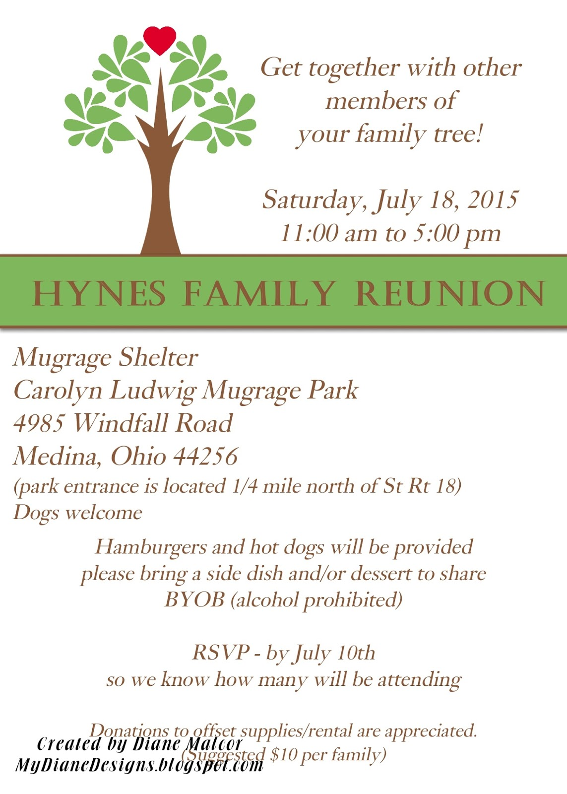 Family Reunion Invite  Invitations For Family Reunion