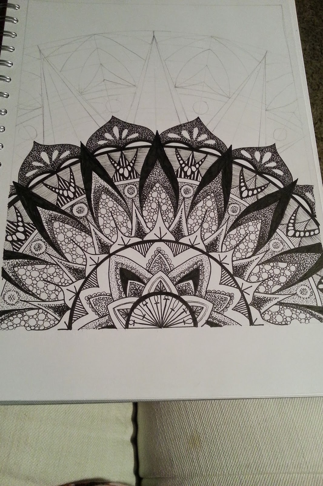 Judy's Zentangle Creations: Half Mandala Feast - photo#8
