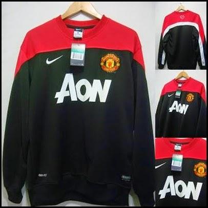 Sweater GO MU Hitam Merah