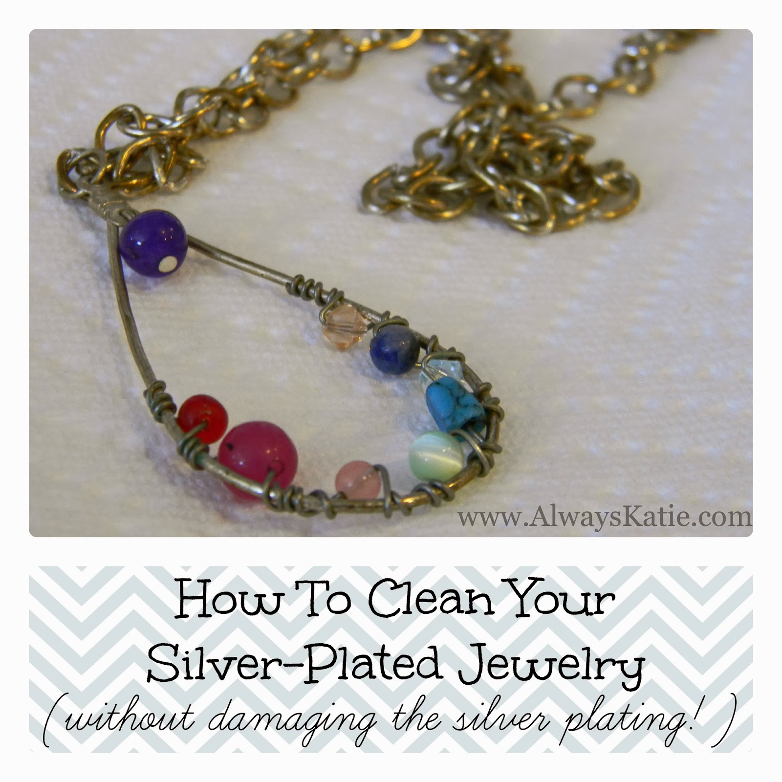 How and what to clean the silver chain