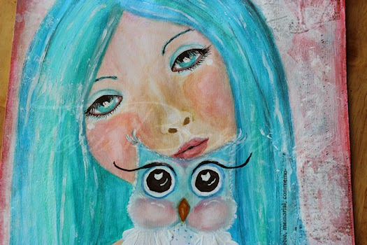 Girl with Owlet by Tori Beveridge  Faces Close up
