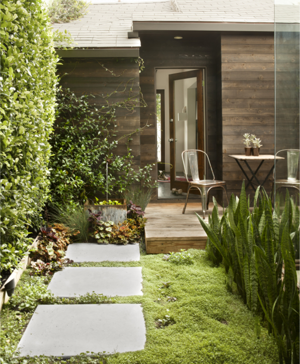 House Beautiful Small Spaces Captivating Of Ground Cover Small Patio Ideas Images
