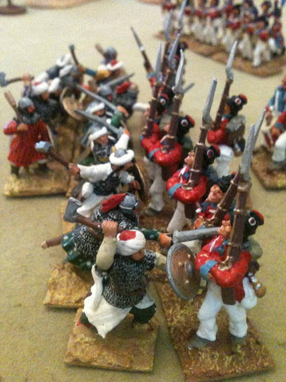 Dismounted Noble Warriors giving it to the French