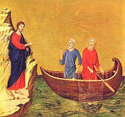 Христианская поделка рыбака ловящего рыбу сетью 26
