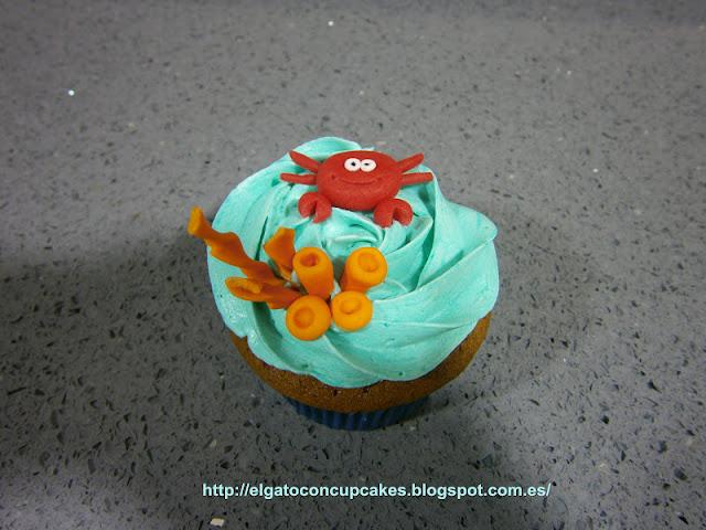 cupcake cangrejo