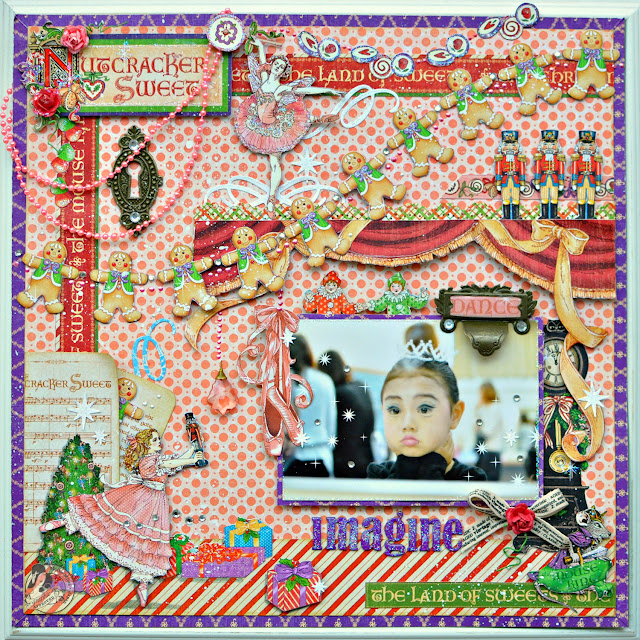 Graphic 45 Nutcracker Sweet Layout project Maiko Miwa