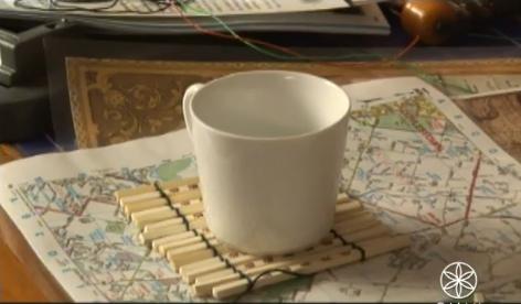 Posavasos con palillos chinos en Recicla Inventa