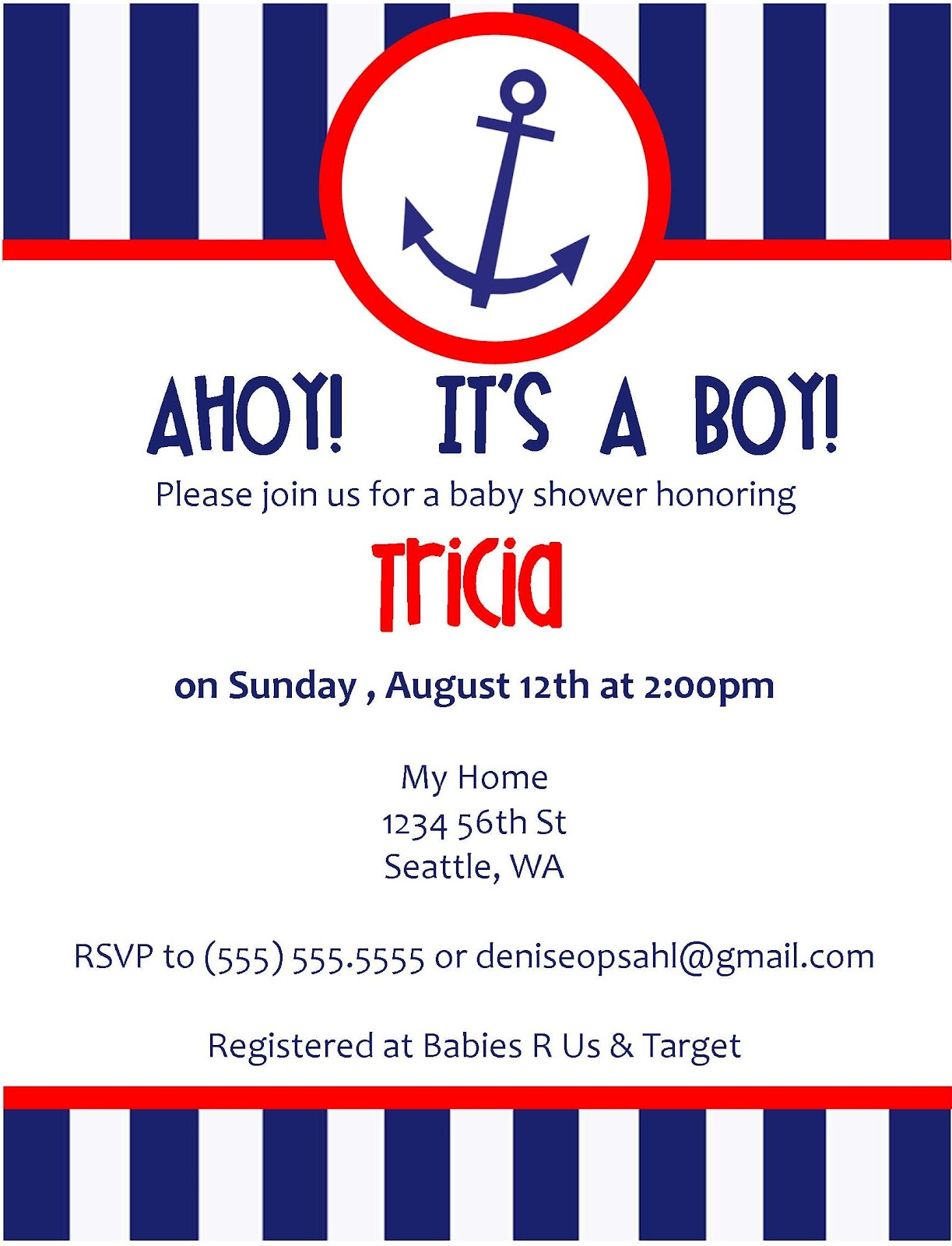She s Crafting Nautical Baby Shower