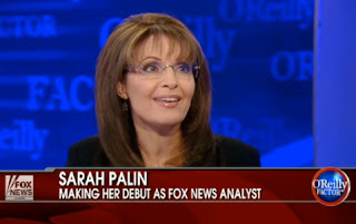 Sarah Palin's first appearance as a news analyst on Fox