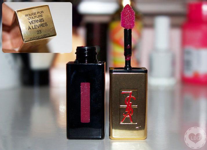 Christmas Challenge: 30 Lipsticks in 30 Days #12 YSL Glossy Stain Fuchsia Cubiste | Le Beauty Girl