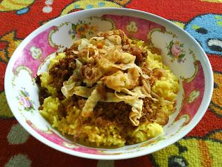 nasi kuning, nasi