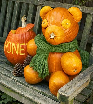 Decorating with Pumpkins and Gourds  - Teddy Bear