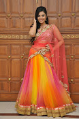 sri mukhi glam pix in half saree-thumbnail-3