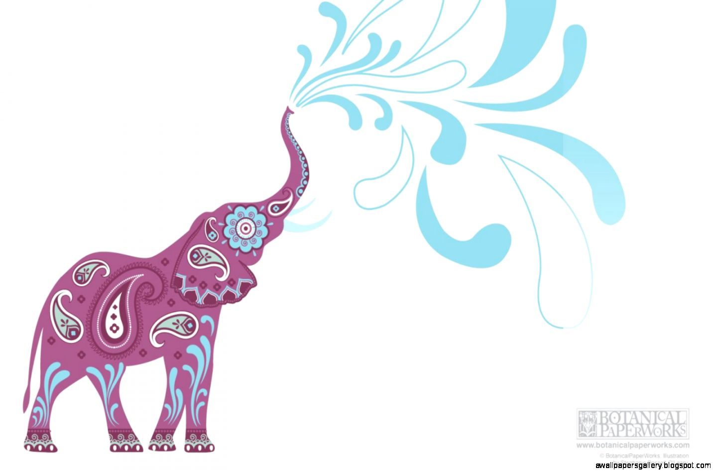 Colorful Elephant Wallpaper Download