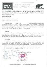 Solicitamos a la mesa de las elecciones sindicales que permita el voto de los interventores en la m