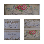 Romanticne Shabby Chic Plocice za vrata