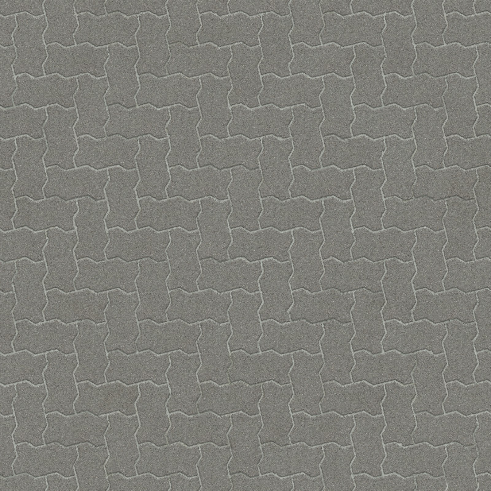 Brick pavement clean grey seamless texture 2048x2048